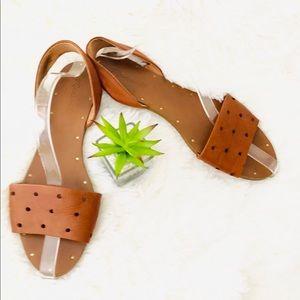 "MADEWELL ""Abbi"" holepunch slingback sandals"